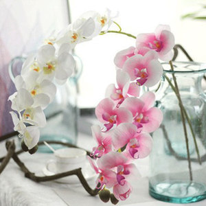 Image 4 - 1PC Artificial Phalaenopsis Flower Silk Butterfly Orchid Branch Artificial Flowers for Wedding Backyard Living Room Decoration