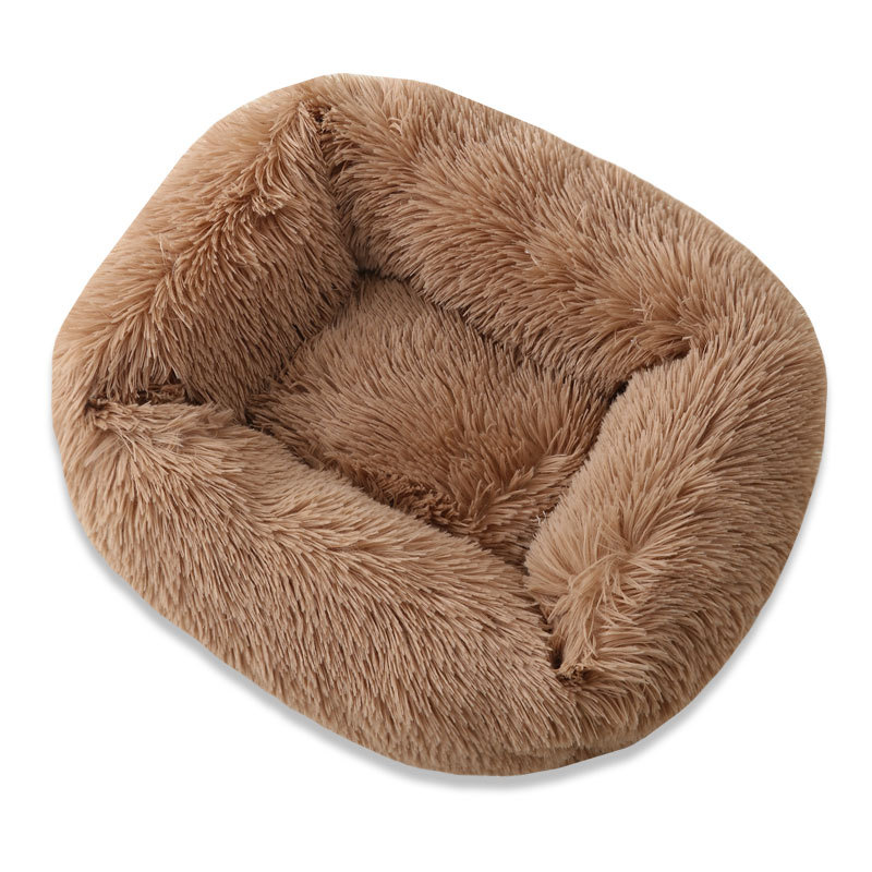 Super Soft Dog Bed House Dog Mat Plush Cat Mat Cats Nest For Large Dogs Bed Labradors House Round Cushion Pet Product Supplies 18