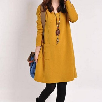 LOOZYKIT Autumn Maternity Dresses in Casual Style 1