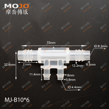 2020 Free shipping!(100pcs/Lots) MJ-B10X6 Plastic hose connectors four way pipe joint multiple pass pipe connectors фото