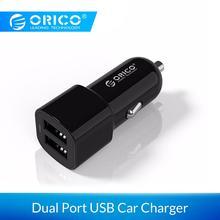 ORICO Переходник USB для зарядки в машине 5 в 2,4 А 17 Вт мини зарядное устройство с двумя портами для iPhone samsung Galaxy yxiaomi
