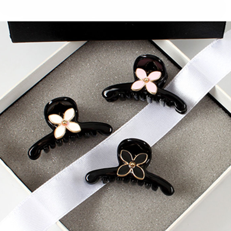 Graceful Fashion acrylic Retro Flower crab claw clip Girls Hair Claws clips for women hairpin Headwear Accessories Party Gifts