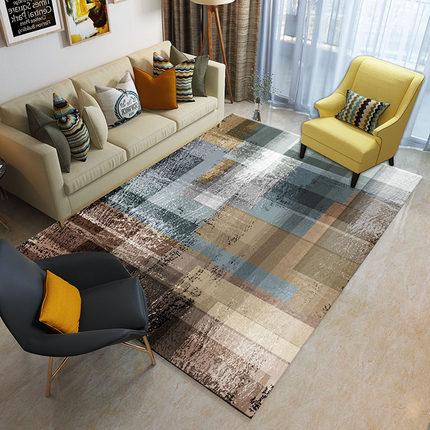 Européen rectangulaire mosaïque géométrique Art tapis chambre salon antidérapant été mince tapis de sol
