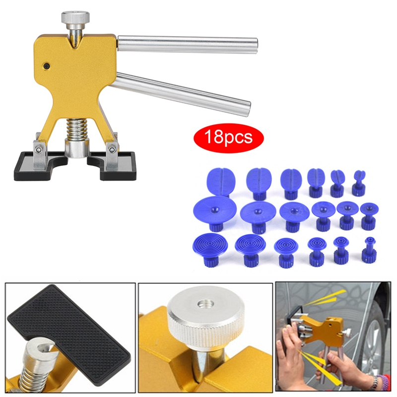 Car Body Dent Repair Tools Dent Removal Puller With 18 Tabs Strong Suction Cup Paint Dent Repair Lifter Tool