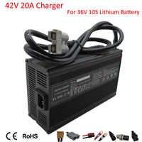 Cargador de batería de litio de 900W, 36 V, 20A, 42V, para motocicleta eléctrica, 36 voltios, 10S, 50AH, 100AH, paquete de batería de li-ion para carretilla elevadora