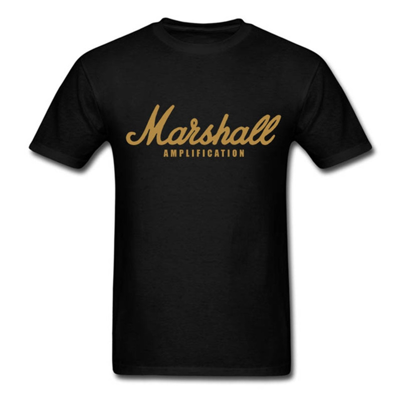 Marshall Amplication T-shirt For Men Women Casual Amps Rock Band Rock Band Metal Tops Tee Shirts Cotton Short Sleeve Cool Tshirt