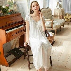 Image 4 - Roseheart Frauen Pruple Schwarz Sexy Nachtwäsche Nacht kleid Homewear Spitze Prinzessin Nachtwäsche Luxus Nachthemd Weibliche Kleid
