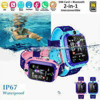 Boy Girl Smart Watch with GSM Touch Screen GPRS LBS Tracker SOS for Kids Children Waterproof Cute SIMS Card Camera Smartwatch