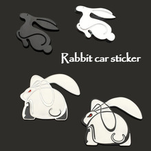 3D Metal Running Rabbit Emblem Car Sticker Rear Trunk Badge for VW Jetta Golf GTI Polo Universal Car Accessories Car Decoration