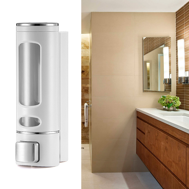 400ML 800ML Wall Mount Soap Dispenser Lotion Pump Shampoo Shower Gel Dispenser Hand Sanitizer Lock Design For Bathroom Kitchen