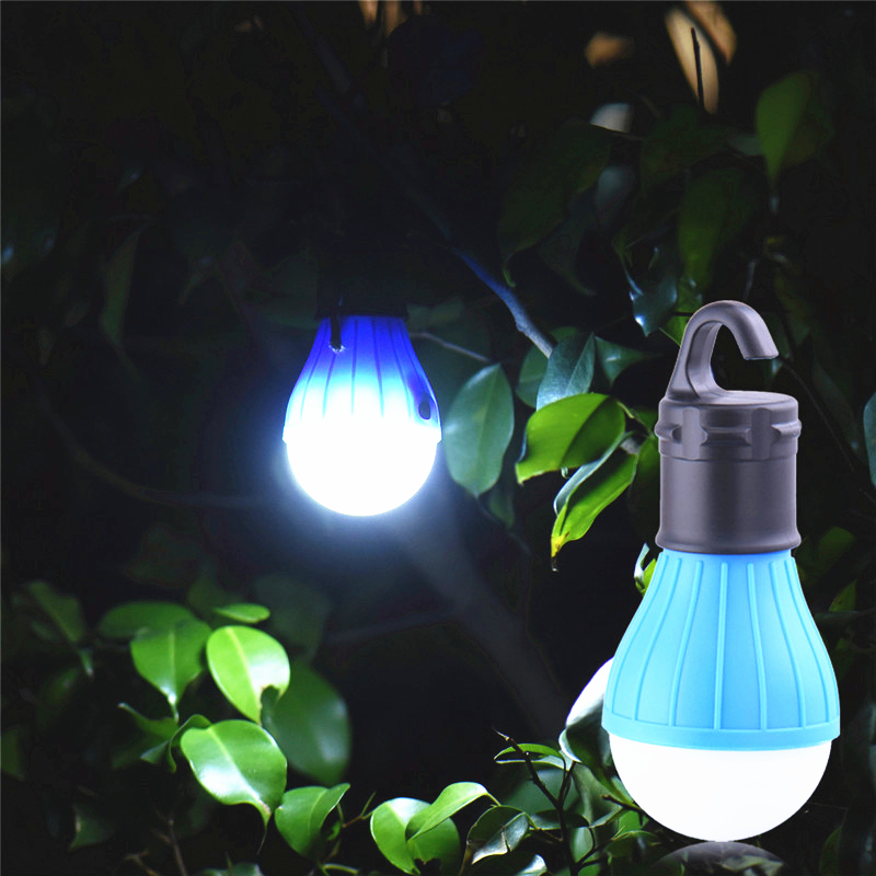Portable Camping Equipment Outdoor Hanging 3 LED Camping Lantern Soft Light LED Camp Lights Bulb Lamp for Camping Tent Fishing(China)