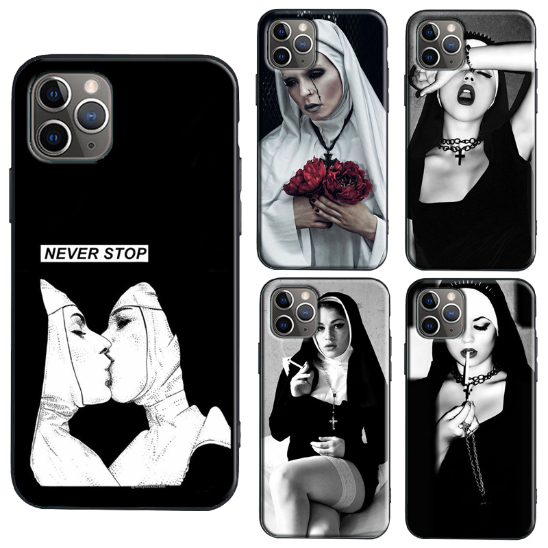 <font><b>Sexy</b></font> Sister Nun Girl <font><b>Case</b></font> For <font><b>iPhone</b></font> 11 Pro Max SE 2020 6S 8 <font><b>7</b></font> Plus X XR XS Max Back Cover Shell image