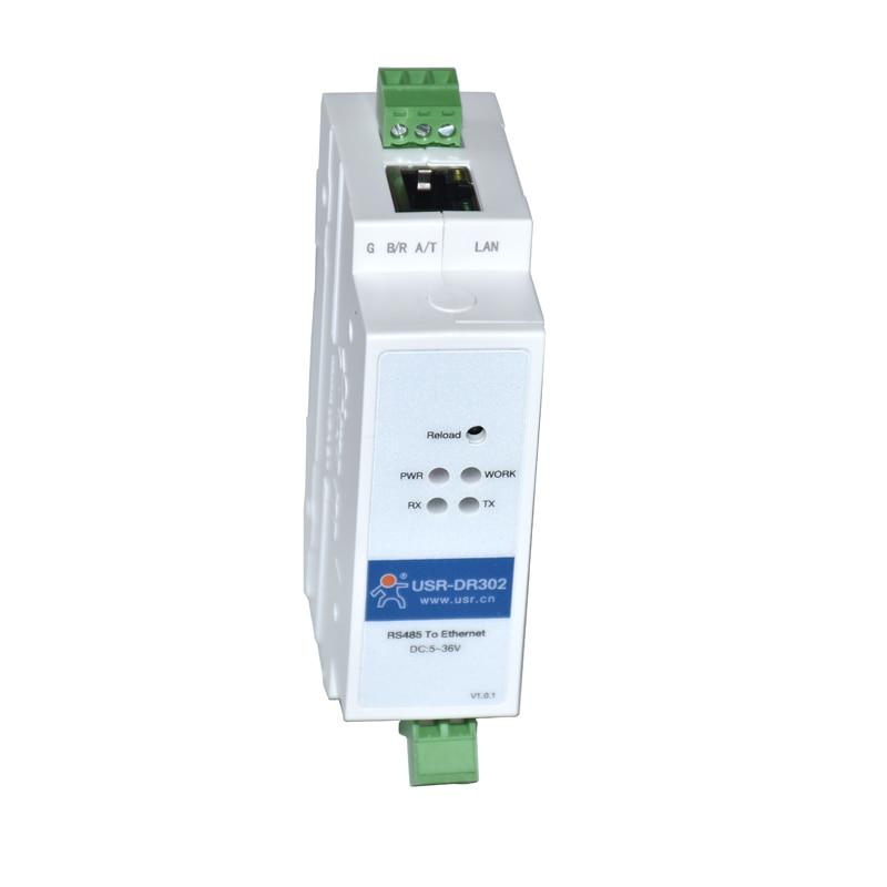 USR-DR302 DIN-rail RS485 Serial To Ethernet Converter Bidirectional Transparent Transmission Between RS485 And RJ45