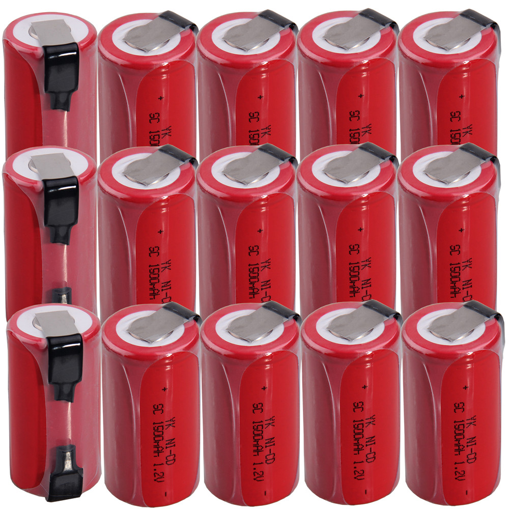 15 pcs SC <font><b>1500mah</b></font> <font><b>1.2v</b></font> <font><b>battery</b></font> <font><b>NICD</b></font> rechargeable <font><b>batteries</b></font> for makita bosch B&D Hitachi metabo dewalt for power tools image