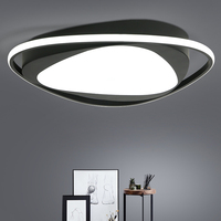 Bedroom simple and modern LED ceiling lamp creative personality room lamp atmospheric home round living room lamp|Luzes de teto| |  -