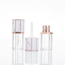 5 Ml Vuoto Lipgloss Tubo Ottagono Chiari Bottiglia di Balsamo per Le Labbra/Gloss Container con Marmorizzazione Coperchio Contenitore di Rossetto di Trucco Ccosmetic tubo