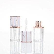 5ml 빈 립글로스 튜브 옥타곤 클리어 병 립 밤/마블링 뚜껑 립스틱 컨테이너 메이크업 화장품 튜브와 광택 컨테이너