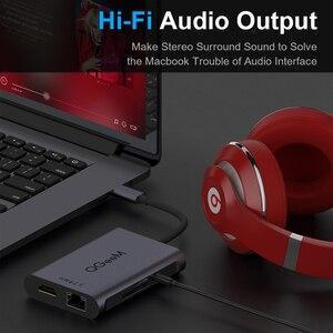 Image 4 - QGeeM 8 Trong 1 Hub USB C Cho Macbook Pro Hub USB 3.0 Adapter PD HDMI RJ45 TF SD 3.5mm Aux Loại C Hub Cho iPad Pro Bộ Chia Dock