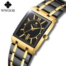 Часы для женщин 2021 новые женские модные квадратные часы wwoor