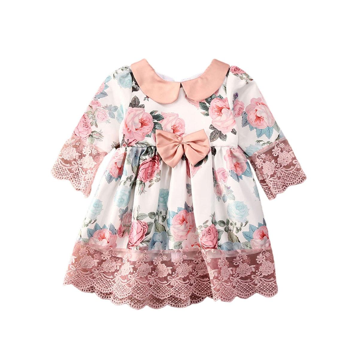 Toddler Kids Baby Girl Summer Princess Dress Tassels Party Communion Dress 0-5Y