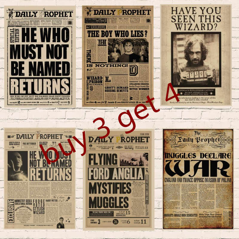 Harry Voleva Ordine Indesiderabile No. 1 Vintage Retro Kraft Poster Poster Quotidiano profeta poster & Sirius Black poster P1