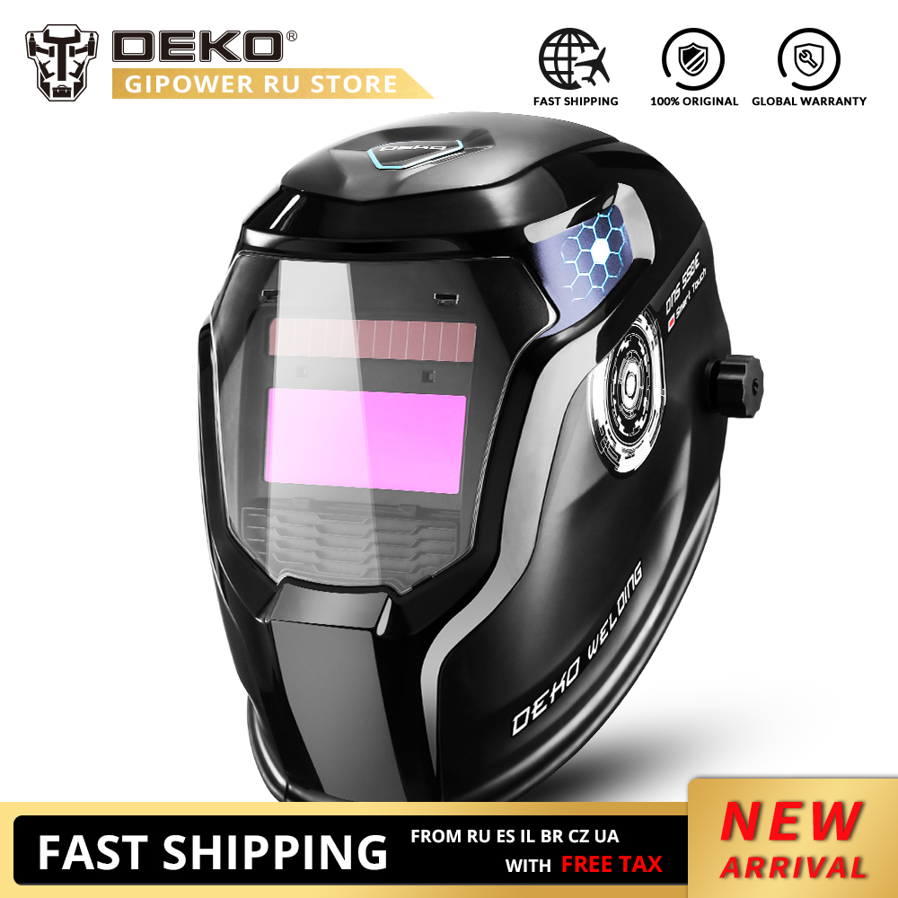 DEKO Skull Solar Auto Darkening Electric Welding Mask/Helmet/Welder Cap Adjustable Welding Lens Eyes Mask For Welding Machine