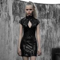 PUNK RAVE women's Cyber prophet dark bag body with futuristic dress,Original printed circuit board theme, glossy printing OPQ698