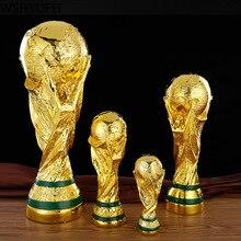 Европейский Золотой цвет смолы Кубок мира Футбол Чемпион трофей сувенир игрушка-талисман домашний офис стол Декор День рождения Рождественский подарок