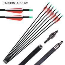 100 pcs od 9 mm id 7 mm arrow nocks plastic nock for 6 8 6 9 mm arrows shaft compound recurve bow hunting and shooting archery 6/12/24pcs Archery Carbon Arrows 30inch Spine 500 Diameter 7.8 mm for Compound/Recurve Bow and Arrow For Adults Hunting Shooting