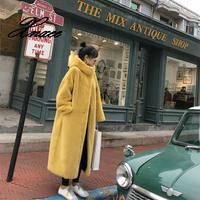 Xnxee Winter Faux Mink Fur Coat Women Winter Long Coat 2020 Female Hooded Thick Warm Faux Fur Jacket Ladies Loose Plush Coat