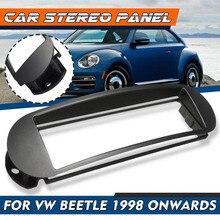 자동차 스테레오 패널 플레이트 1 DIN Facia Fascia 패널 트림 블랙 VW Beetle 용 1998 1999 2000 2001 2002 2003 2004 2005 2006 2007