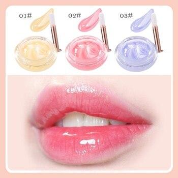 1 pc Night Sleep Repair Lips Moisturizing Lip Balm Lip Sleeping Mask Pink Lips Bleaching Cream Nourish Protect Lips Care Brush