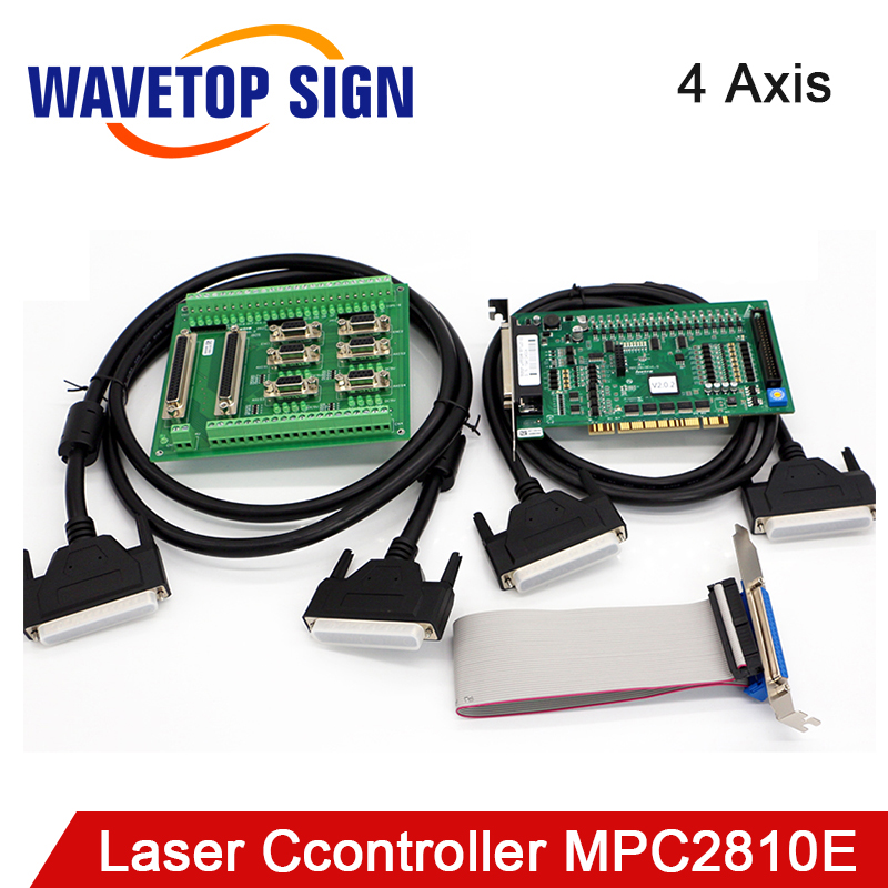 Leetro MPC2810E 4-axis Universal Motion Control Card Co2 Laser Controller System For Laser Engraving And Cutting Machine
