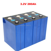 4PCS/Lot LiFePO4 3.2V 280Ah Cells for 12V 280Ah Lifepo4 Battery Home Solar Energy Storage With Bus Bars
