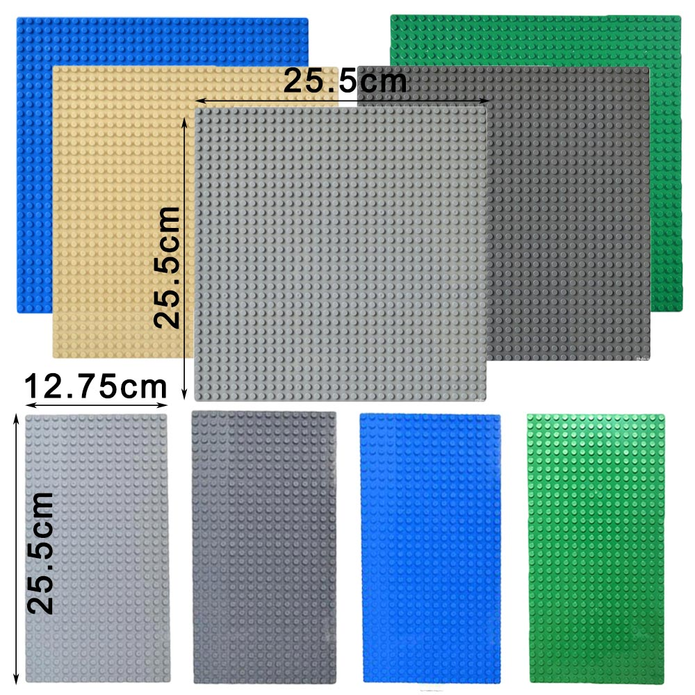 Classic Base Plates Plastic Bricks Baseplates Compatible All Brands city dimensions Building Blocks Construction image