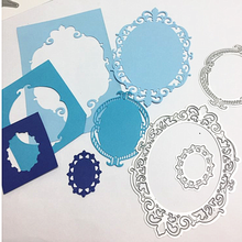 Kokorosa 3 Pcs/lot Metal Cutting Dies Scrapbooking For Card Making DIY Embossing Cuts New Craft Die Oval Pattern Photo Frame