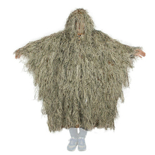 Outdoor Hunting Ghillie Suit Ghillie Clothes Top Men Camouflage Hunting Gilley Suit Outdoor Jungle Hunting Cloak Poncho