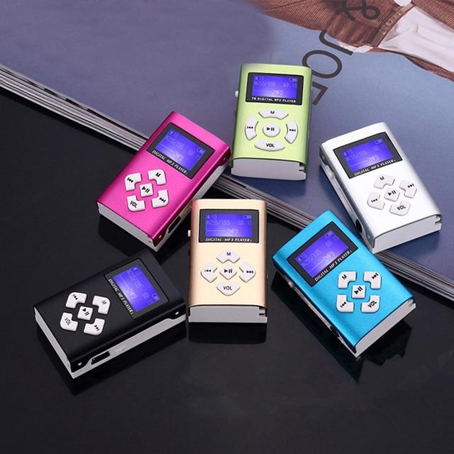 MP3 Music Player Mini Usb Clip Portable Lcd-scherm Ondersteuning 32Gb Micro Sd Tf Card Slot Digitale Mp3 Muziekspeler 2