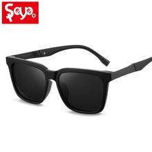 SAYLAYO neto estilo estrella negro de las mujeres de los hombres gafas de sol polarizadas Vintage de moda gafas aeropuerto tomar fotos bien guapo gafas