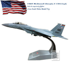 AMER 1/100 Scale Plane Model Toys USAF F-15A F15 Eagle Fighter Diecast Metal Military Toy For Collection/Gift