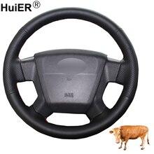 Ручное шитье автомобиль рулевое колесо Крышка Топ из коровьей кожи Volant для Jeep Compass 2006 2007 2008 2009 2010 лет Patriot 2007-2010