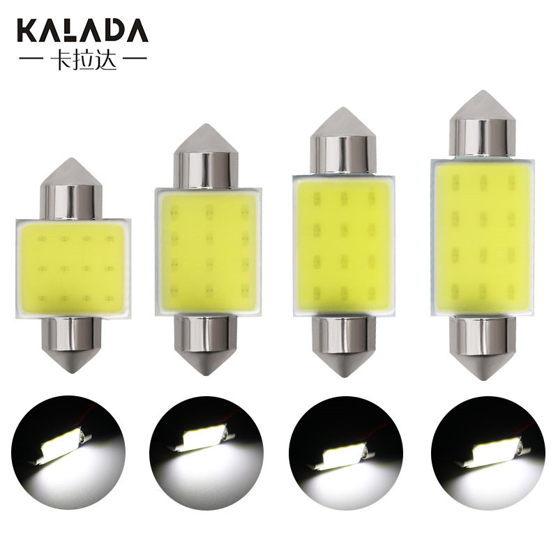 1X C5W C10W Cob Festoon Led Car Light Bulb High Bright Auto Room Ceiling No Error Interior Reading Lamp Vehicle White 6500K 12V