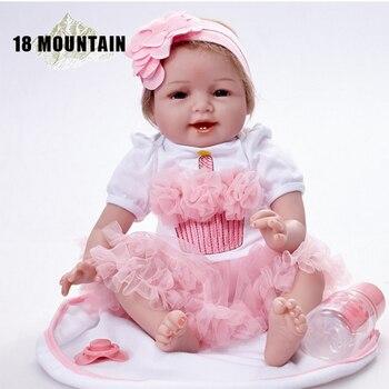 55 CM Handmade Reborn Babies Dolls Realistic Reborn Baby Whole Body Of Silicone Doll For Girls Toddler Birthday Gift Drop Shiper warkings reborn