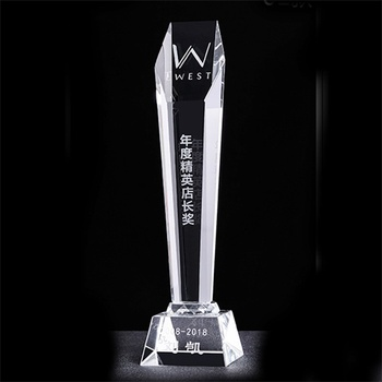 27cm K9 Crystal trophy cup Encourage Souvenir Awards Gift