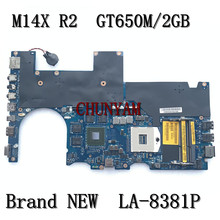 Mainboard M14X Dell Alienware LA-8381P NEW for Laptop GT650M 2GB Cn-0rh50g/Rh50g/Mainboard/100%tested