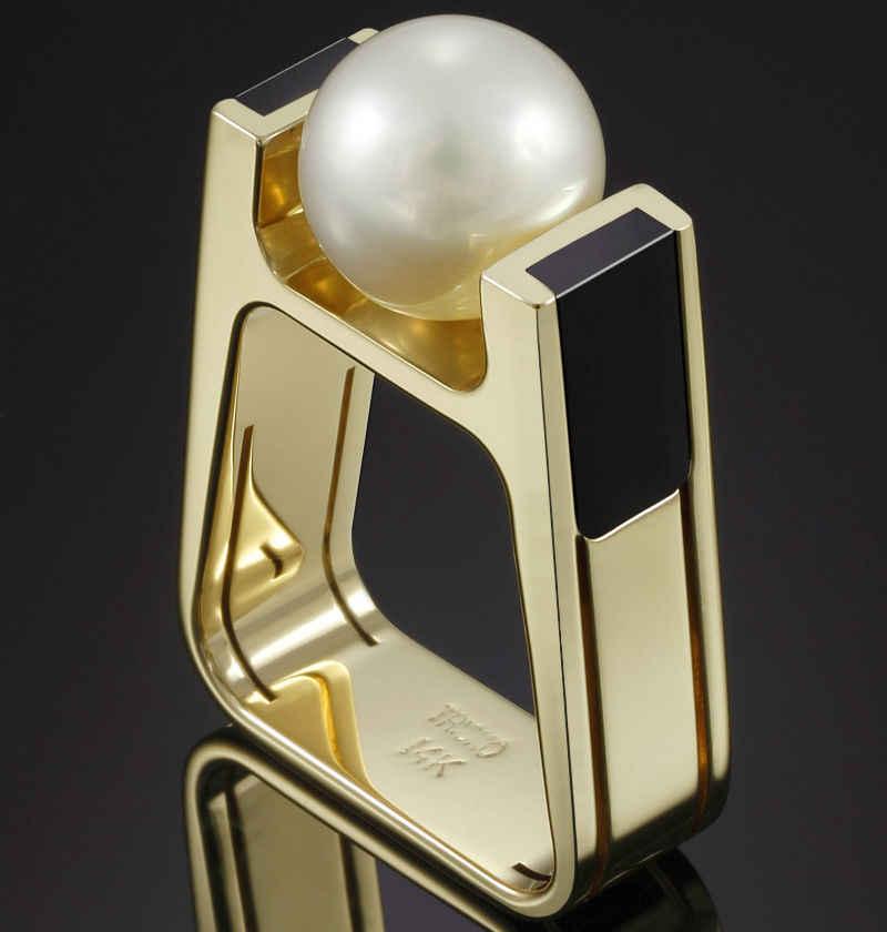 14K złota perełka pierścionek z brylantem dla kobiety mężczyźni plac Anillo ślub Bizuteria 14K złota biżuteria Topaz Bizuteria kamień szlachetny pierścień