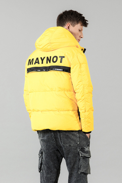SIMWOOD 2019 Winter Fashion White Duck Down Coats Men Hip Hop Letter Jacket High Quality Parka Slim Fit Brand Clothing 180433