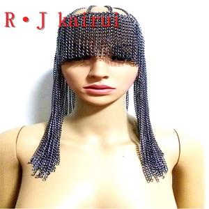 Image 3 - ใหม่แฟชั่นสไตล์WRB949ผู้หญิงสายรัดโซ่ทองชั้นใบหน้าโซ่เครื่องประดับคอสเพลย์ผมโซ่เครื่องประดับ3สี