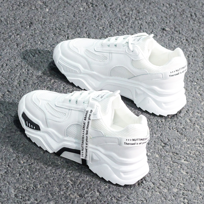 The New Spring 2020 Fashion Women's Shoes Sneakers Show High Running Shoes Platform Comfortable Breathable Trend