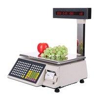 Dahua Label Printing Balance Cash Register Receipt Scale Label Printer Scale POS Retail Balance Scale with Printer